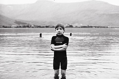 (jla ) Tags: boy summer lake cold film swimming iceland little pentax near hp5 reykjavk mx mealfellsvatn
