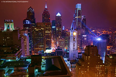 William Penn is Watching (TIA International Photography) Tags: city winter urban building philadelphia skyline architecture night skyscraper tia landscape hall downtown december cityscape pennsylvania center william spotlight penn metropolis philly legend tosin curse zoning phila arasi tiascapes tiainternationalphotography