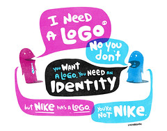 cartoon: everybody wants a logo