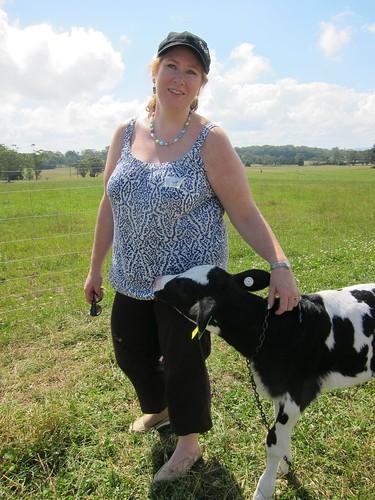 Being eaten by a calf :-)