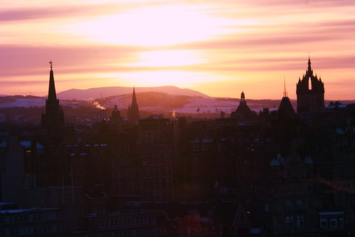 Sunset over Edinburgh