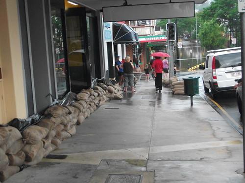 Mary street sandbags
