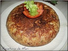 TORTILLA DE CARNE Y CHAMPIÑONES