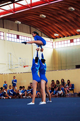 Making the best impressions. (rae.joanna) Tags: blue girls blur portugal sport youth photography europe young competition gymnastics acrobatics balance perfection 2010 pombal