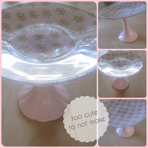 DIY too pretty cake stand