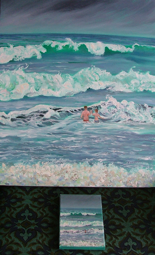 Waves Before the Hurricane, remastered at 20 x 24 in.
