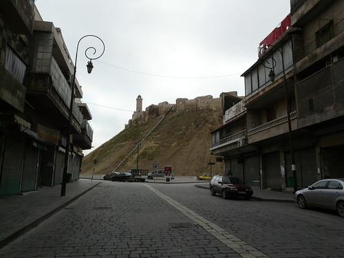 Aleppo street and citadel