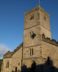 St Mary's Church in Kirkby Lonsdale (Tony Worrall) Tags: uk blue england sky building tower clock church face worship village god north holy cumbria built kirkbylonsdale stmaryschurchinkirkbylonsdale