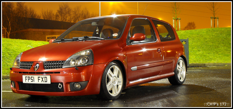 CH!P's Clio Sport 172: Coilovers are on and height is set-up