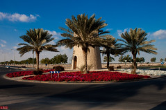 1/52 - Al Khor Community roundabout (.:shk:.) Tags: road door flowers red plants white gate asia roundabout middleeast entrance palmtrees arabia arabian doha qatar akc blooming shk 52weeks project52 shkarim sogirkarim sogskarim alkhorcommunity 52weeksof2011