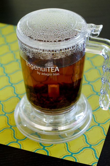 tea steeping in teapot 2