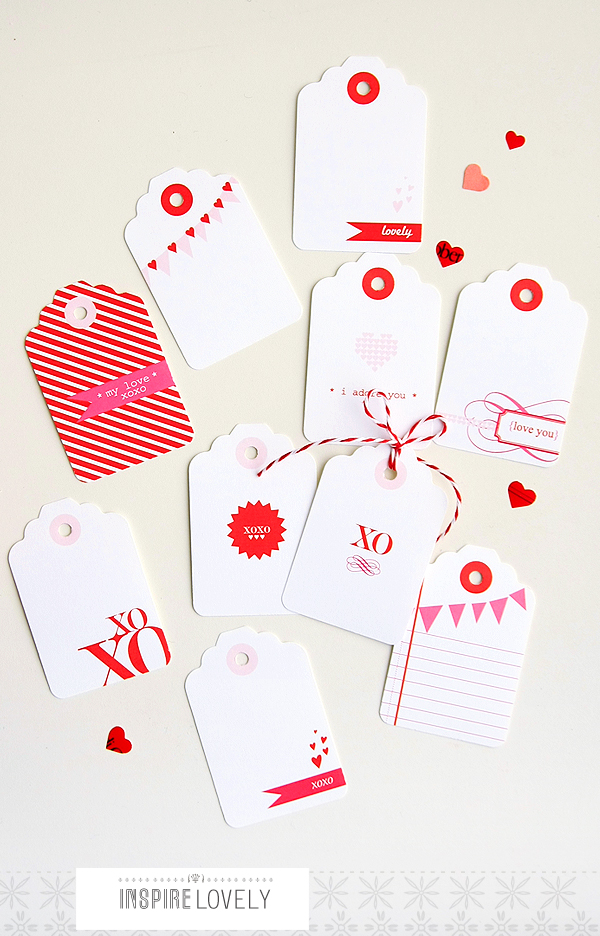 Exclusive Valentine Gift tags