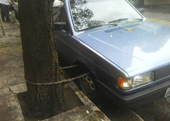 Blue Car Lock Fail
