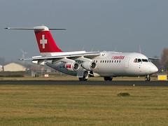 HB-IYW Avroliner RJ-100 Swiss (Irish251) Tags: netherlands amsterdam airport swiss nederland british bae schiphol ams aerospace avro 146 eham rj100 avroliner hbiyw