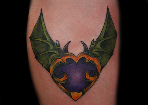 bat wing tattoos. Bat Wings Custom Tattoo