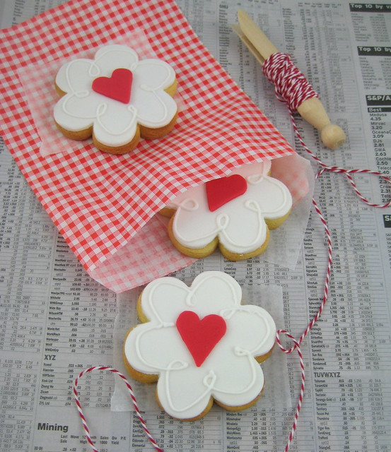 my love is blossoming for you valentine heart cookie