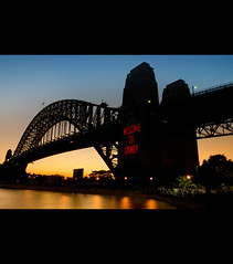 Sydney 31 dec 2010 (JFess4) Tags: eve bridge sunset water night long exposure fireworks harbour nye under sydney australia down landmark icon shore friendly newyears welcome aussie