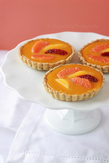 Orange Passionfruit Curd Tartlet Closeup