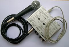 Shure Sm58 and Edirol USB Audio Capture UA-25EX interface