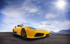 Ferrari F430 16M Scuderia Spider [Explored] (Tareq Abuhajjaj | Photography & Design) Tags: auto show light red sky italy moon white black cars car sport yellow speed photography lights design spider photo high nice nikon flickr italia nissan power top side wheels fast gear ferrari saudi arabia manual carbon fiber rims riyadh scuderia v8  ggg 2010 430 ksa   070 tareq  16m        d700        foilacar tareqdesigncom tareqmoon tareqdesign  abuhajjaj