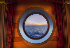Disney Dream - Admiring the View (Joseph Vernuccio) Tags: ocean sunset dream disney porthole bahamas disneycruise nikond700 disneydream disneydreamsunset