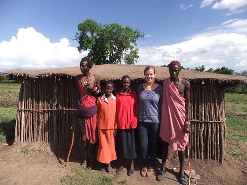 Maasai Moran Manyatta and... tourist