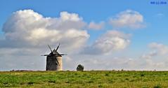 DSC_0004n wb (bwagnerfoto) Tags: tés bakony szélmalom windmühle windmill landscape landschaft tájkép ősz herbst autumn fall sky blue clouds felhők serene romantic hungary nature outdoor village old rural