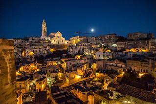 Sassi di Matera at night