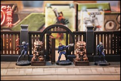 Imperial Service - Kanren Counter-Insurgency Group (feelinstrangelyfine) Tags: infinity infinitythegame imperialservice yujing tabletop miniaturepainting miniatures kanren ninja celestialguard fudog