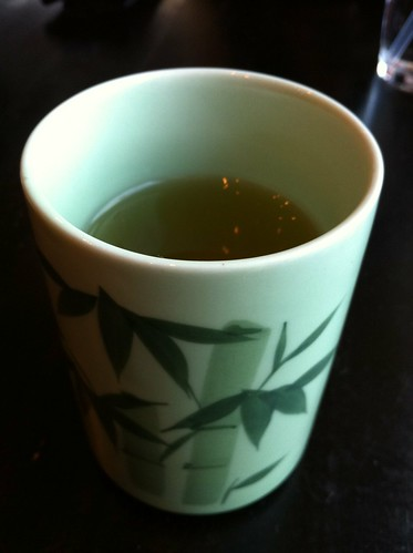 Outstanding cup of green tea at Obi Sushi