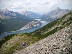 Seeking freedom (fields of bohemia) Tags: kananaskis alberta rockymountains spraylakes glacialvalley frontranges readstower duncanvsthescree