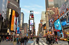 43rd St - Times Square (Rafakoy) Tags: pictures street city nyc blue light sky people test signs ny newyork sign digital subway lights photo focus day with photos manhattan cab taxi broadway picture taken made example timessquare sample avenue activedlighting afsnikkor18105mmvr nikond7000