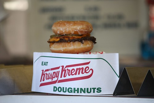 Krispy Kreme Burger at the Coastal Carolina Fair