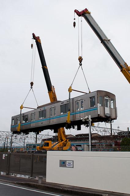 東京メトロ東西線05系05-110F 05-410 搬出