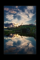 Evening Reflections (McCarthy's PhotoWorks) Tags: autumn winter sunset sky cloud reflection fall nature water beautiful river landscape evening scenery stream mediterranean outdoor dusk scenic peaceful scene malta calm environment greenery med idyllic chadwick gettyimagesmalta1