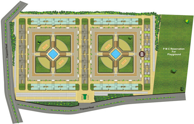 Layout of Kumar Pebble Park Handewadi Hadapsar Pune