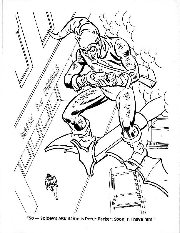 Spider-Man Unmasked! Coloring Book022