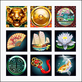 free Lucky Tiger slot game symbols