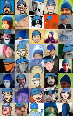 Blue Beanie Day avatars