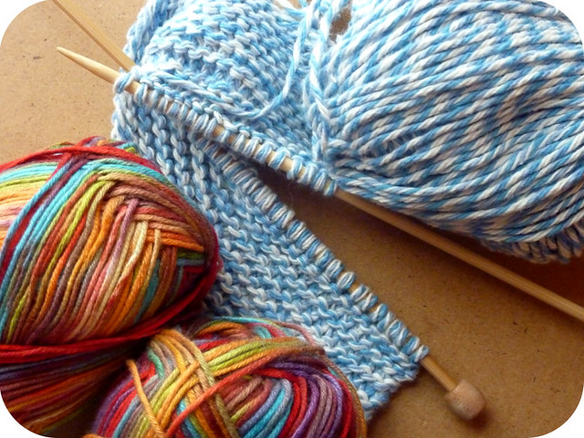 knitting on a winter's day