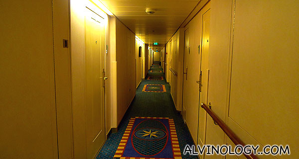 Walking down the rooms corridor