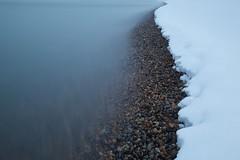 Snow beach (Jim B Banks) Tags: longexposure morning sea snow beach canon brighton pebbles