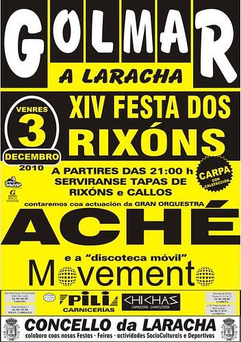 A Laracha - Golmar 2010 - Festa dos Rixóns - cartel