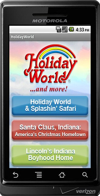 """Holiday World & More!"" Android app"