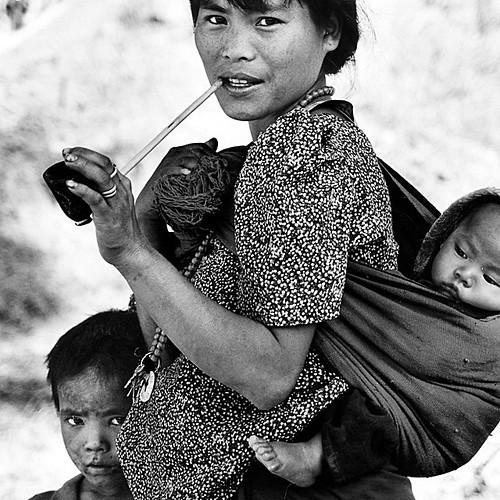 Burmese young mother