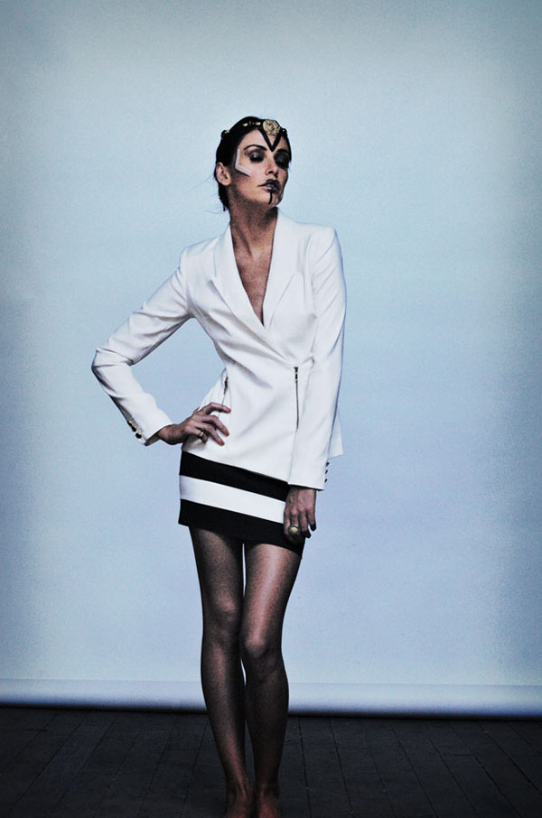 Shine By Three, Fashion Editorial, White Jacket