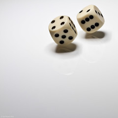two dice (Jon Downs) Tags: 2 two white dice black color colour macro art colors closeup digital canon downs eos photo jon flickr artist colours image cream picture pic photograph 7d cliche clich hcs jondowns clichesaturday clichsaturday