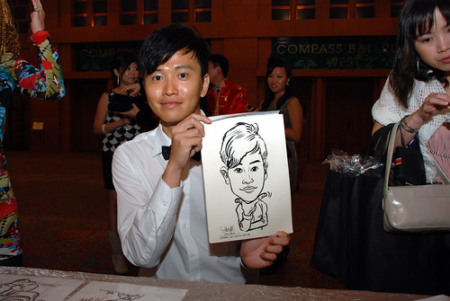 caricature live sketching for Ernst & Young D&D 2010 - 4