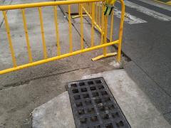 Amposta: obres mal delimitades al carrer Navarra