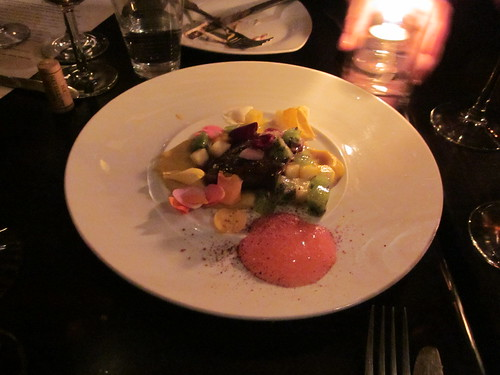 Ludobites 6.0 (at Max), Sherman Oaks, CA - December 2010 - Roasted Pickled Foie Gras, Honey, Autumn Fruits, Rose Flowers